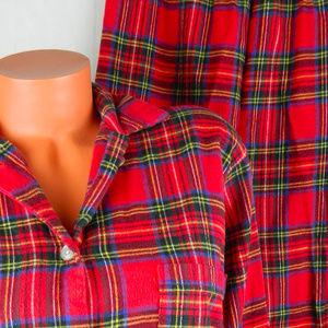 e39a3ba939 L.L. Bean Intimates   Sleepwear - LL BEAN Flannel PJs PAJAMAS Red PLAID  Medium